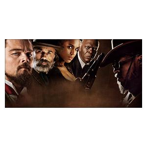 Неформатный постер Django Unchained. Размер: 120 х 60 см